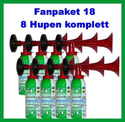 Preisvergleich Produktbild ORIGINAL Simply Fanpaket 18-8 Simply Druckluftfanfaren,  die Top Hupe Fanfare Tröte Drucklufthupe EU Gesetz komform sehr UMWELTFREUNDLICH 120db