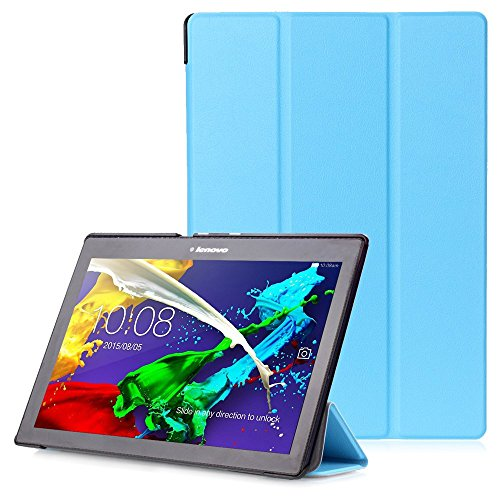 """Lenovo Tab 2 A10 / Tab3 10 Plus / Tab3 10 Business Hülle - Schutzhülle mit Auto Aufwachen / Schlaf Funktion für Lenovo Tab 2 A10-30 / A10-70 / Tab3 10 Plus / Tab3 10 Business 10.1"""" Tablet, Hellblau"""