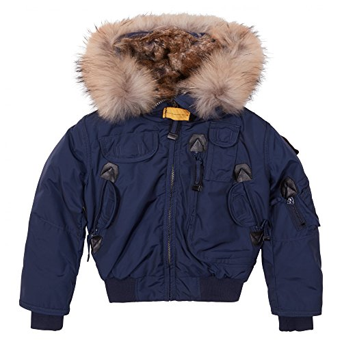 c4b6789e9 Parajumpers - Kids Gobi Girls Jacket 8 Yrs Marine