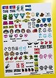 RC 10th maßstab DRIFT Sticker Aufkleber DRIFTENDE JDM GROßES DURCHSICHTIG VINYL VORGESCHNITTEN 2ER SET