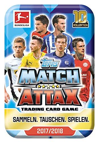 Topps D106114-DE Match Attax Sammelkarten Bundesligasaison 2017/18, Mini-Tin mit 40 Karten, sortiert