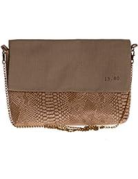 Mini sac en simili cuir et lin