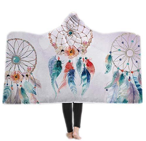JLA Hooded Blanket, Dick Double-Layer Plüsch 3D Digital Print 3 Stil, Perfekte Camping, Reisen, Nickerchen, Spielen, Schlafbegleiter, 150 * 200Cm, 130 * 150Cm,C,130 * 150CM (Double-layer-kapuze)
