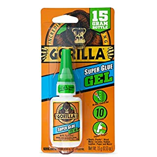 Gorilla 4044400 07222000595 Superglue Gel 15gm, Clear