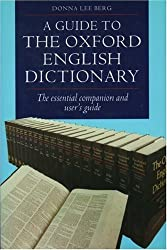 A Guide to the Oxford English Dictionary by Donna Lee Berg (1993-08-26)