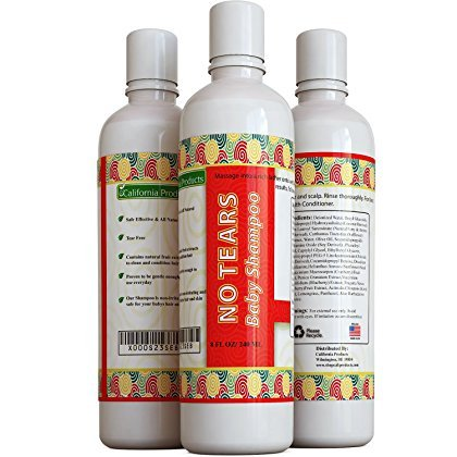 Best Baby Shampoo - Pure and Natural Ingredients for No Tears - Safe for Super Sensitive Hair and Scalp - Fruit Extracts for Clean and Conditioned Hair - USA Made By California Products by California