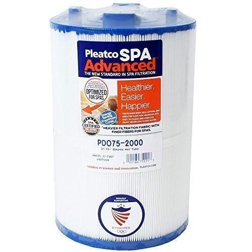 Filterkartusche Kartusche Whirlpool Filter Lamellenfilter Pleatco PDO75-2000, Darlly 70759, Filter4Spas SC730, Unicel C-7367, Filbur FC-3059, Magnum D1-TY75 -