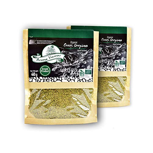 Greek Dried Oregano Leaves | No Woody Stems | Handpicked from Greek Mountains | 80g