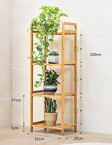 Pot En Bois Étagère Fleur Rack Fleur Pot Herb Présentoir 4tier Plante Escaliers Balcon En Plein Air ( taille : Length: 35CM )