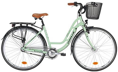 Onux Grace 3-Gang 28 Zoll Citybike Damen Hellgrün (2017)