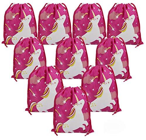 BeeGreen Geschenktütchen Mitgebsel Kindergeburtstag Tüten Einhorn Geburtstag Party 10 Stück Geschenktüten für Mädchen Give Aways Gastgeschenke Partytüten -