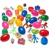 German Trendseller® - 24 x œufs Surprise Avec jouet à l'intérieur┃ Party Loot ┃ enfants ┃ mélange coloré ┃ Party