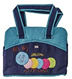 Love Baby Diaper Bag Multi-Utility Denim Polkas Bag - DBB12 Gold