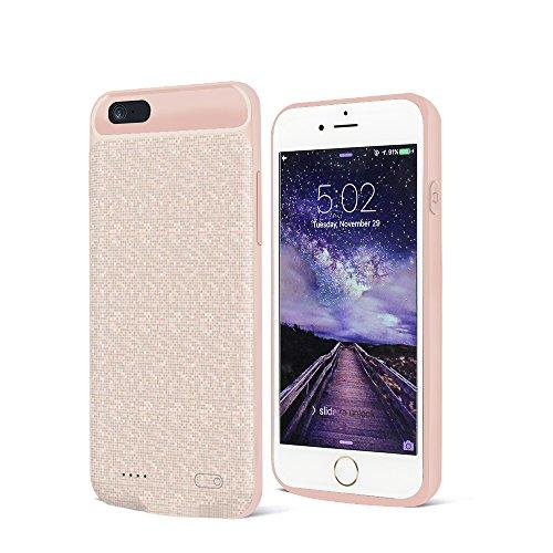 Preisvergleich Produktbild Ultra dünne iPhone 6 Akku Hülle,SURPHY Akku Case Hülle Extra Akku Power Schutzhülle mit integriertem 2500 mAhfür Apple iPhone 6 / 6s (4,7 Zoll) Pink