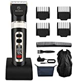 Best Professional Trimmers - Moosoo Hair Clipper, Electronic Professional Trimmer, LED Display Review