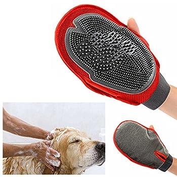 Cisixin Brosse Gant de toilettage pour Chien Appareil de massage Animalerie