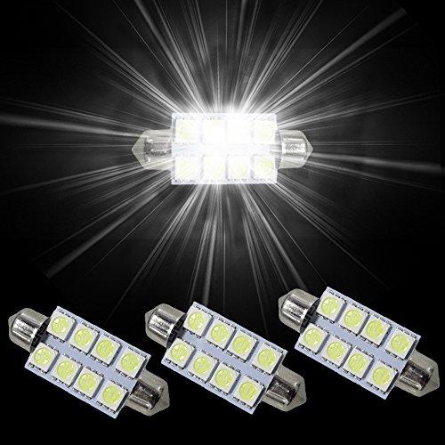 muchkey 8x SMD Intrieur Festoon C10W LED Ampoule pour Trafic VIV 3Blanc 42mm pas cher – Livraison Express à Domicile