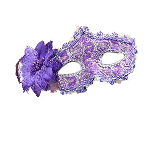 YAZILIND Sexy Spitze Stil Strass Augenschild Halloween Party Kostüm Maskerade Lilie Blume Prinzessin Maske (Maskerade Masken Italienische)