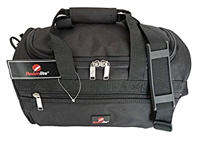 RYANAIR 2ND ITEM HAND BAGGAGE - Small Holdall Made for Ryanair and ALL Airlines - 35cm Hand Luggage Size Holdalls - PERFECT Travel Bag as Ryanair Second Cabin Bag - 35cm x 20xcm x 20cm - Black RL59Ka