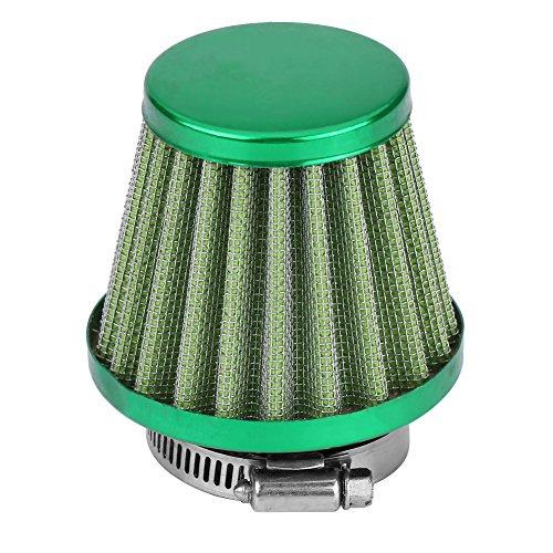 Universale 38 mm Filtro aria Tapered Rotondo, Auto Kit di induzione della presa d'aria fredda per fuoristrada ATV Quad Dirt Pit Bike(verde)