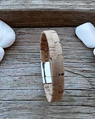 Bracelet homme en liège, bracelet liège naturel, bracelet vegan, bijou homme, bijou créateur, cadeau homme, liège, aimanté, magnétique