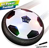 Kids Toys Football Games, Air Power Soccer Disc Glide Base Ball Game Training Indoor Outdoor Fun Toys with Soft Foam Bumpers and LED Lights Perfect Football Gifts for Kids Teens