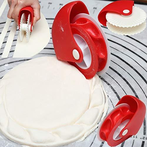 JJ.Accessory Pizza Pastry Lattice Cutter (langlebige Pastry Wheel Cutter) Kunststoff-Nudel-Rollen für Pizza Cookie Noodle verwenden - Lattice Cutter
