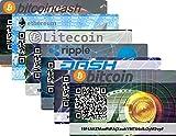 Bitcoin, BitcoinCash, Ethereum, Litecoin, Ripple, Dash Paper Wallet Card, Hardware Wall