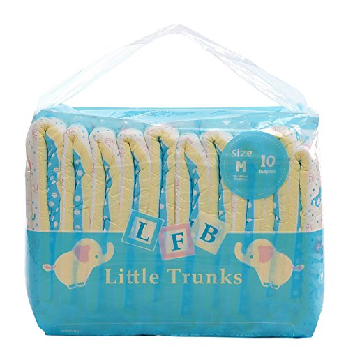 LittleForBig Gedruckten Erwachsenen Slip Windeln 10 Stück - Kleine Elefanten M