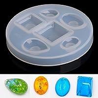 SODIAL Gel de silice DIY del molde colgante colgante Gotas de resina de moldeo Craft Molde Fabricacion de la joyeria (oval caida Square)