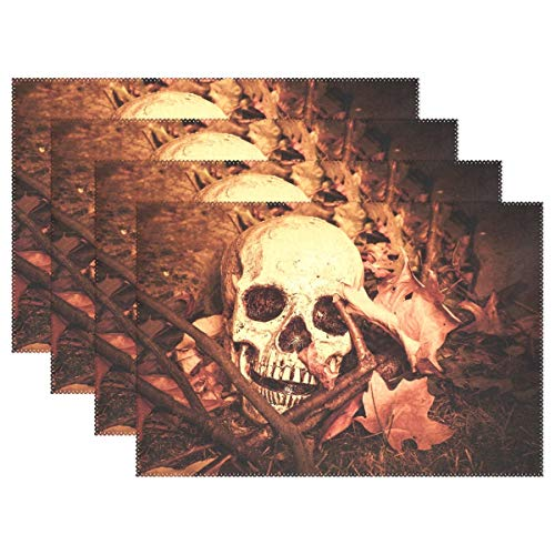 GOODSTHING Tischset, Day of The Dead Skull Placemat Table Mat 12