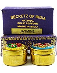 Fragrance Jasmine naturelle solide Parfum corps musc naturel En Mini Brass Jar 4g
