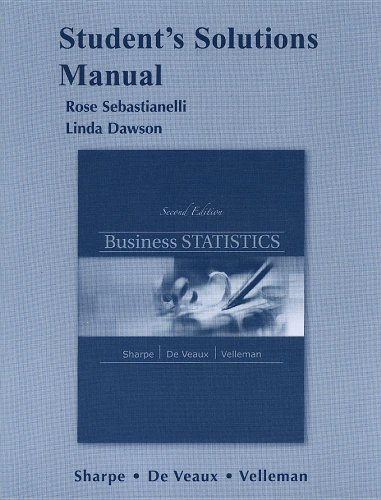 Student Solutions Manual for Business Statistics by Norean D. Sharpe (2011-04-16)
