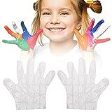 300 Paare Kinder Essen Einweghandschuhe Einmalhandschuhe Folienhandschuhe Latex-freie Lebensmittelqualität Einweg-Schutzhandschuhe für Kinder
