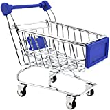 Imported Mini Shopping Cart Trolley Toy Dark Blue
