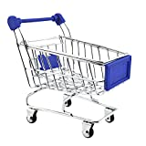Imported Mini Shopping Cart Trolley Toy Dark Blue