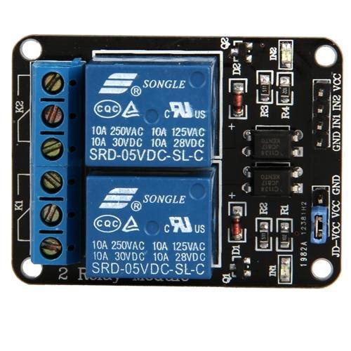 Ecloud Shop 2 Kanal 5V Relay Relais Module Modul für Arduino Special Sensor Shield V4.0 -
