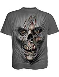 Spiral T-shirt pour homme Motif Stitched Up Anthracite