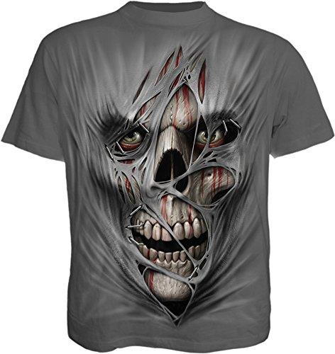 Spiral Men - Stitched UP - T-Shirt Charcoal