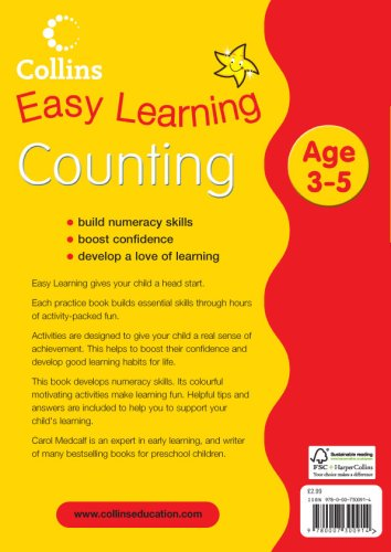 Counting Age 3–5: Book 1 (Collins Easy Learning Age 3-5)