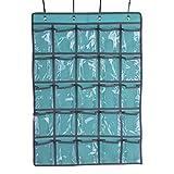 GWELL praktische Ordnungssysteme Utensilientasche Hängender Organizer mit 25 Taschen, Hängeorganizer, Hängeaufbewahrung, Schuhschränke, Multifunktionale Aufbewahrungstasche für Kinderzimmer, Schlafzimmer, Tür blau
