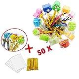 50 pezzi matite in legno di grafite con gomma set matite HB e gomme per bambini festa riempitivi per ragazzi e ragazze 3D puzzle Animal matite per bambini festa di compleanno borse