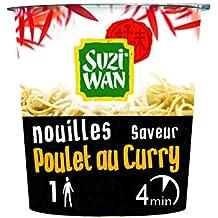 SUZI WAN Nouilles instantannées en pot - Cup Noodle - Poulet au curry 62g - prêtes en 4 min - Pack de 8 unités