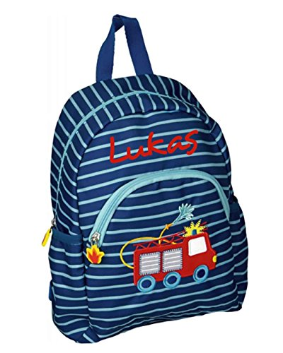 Feuerwehr Kindergarten-Rucksack mit Namen beschriftet ()
