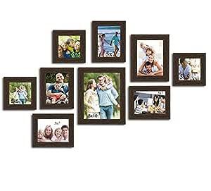 Art Street Diana Texture Set of 9 Individual Wooden Wall Photo Frames