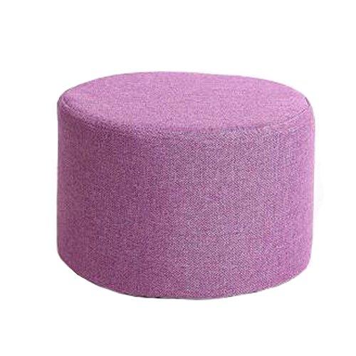 Haushalts-kreativer runder Schemel-Sofa-Schemel-Schemel mit abnehmbarer Abdeckung, Lila