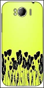 Snoogg Grass And Poppy Designer Protective Back Case Cover For HTC Sensation Xl