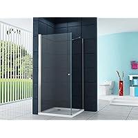 Entrata di curva Box doccia Doccia Monaco di Baviera-Fix 90 x 90 x 200 cm / 8mm / inclusivo piatto doccia e