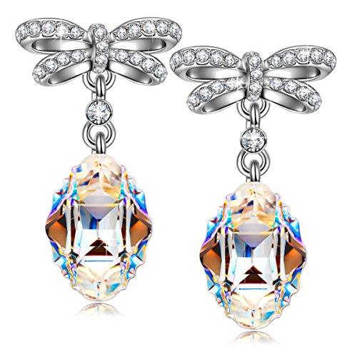 Susan Y Monaco Aurore Boreale Ohrringe Damen mit kristallen von Swarovski Schmuck Geschenke zum Mutter Sie Frauen Mädchen Valentinstag Jubiläum Geburtstag
