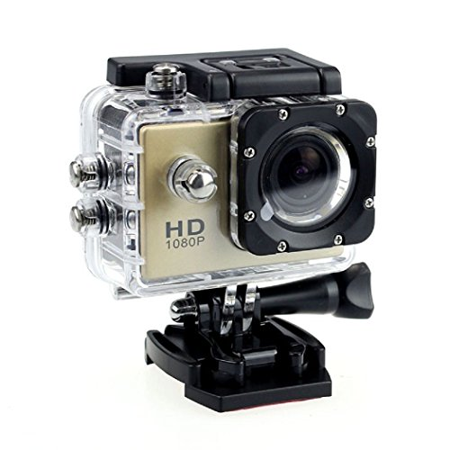 Ularma 12MP HD 1080p Fahrrad Auto Sport Mini DV Actionkamera wasserdicht Helmkamera (schwarz)